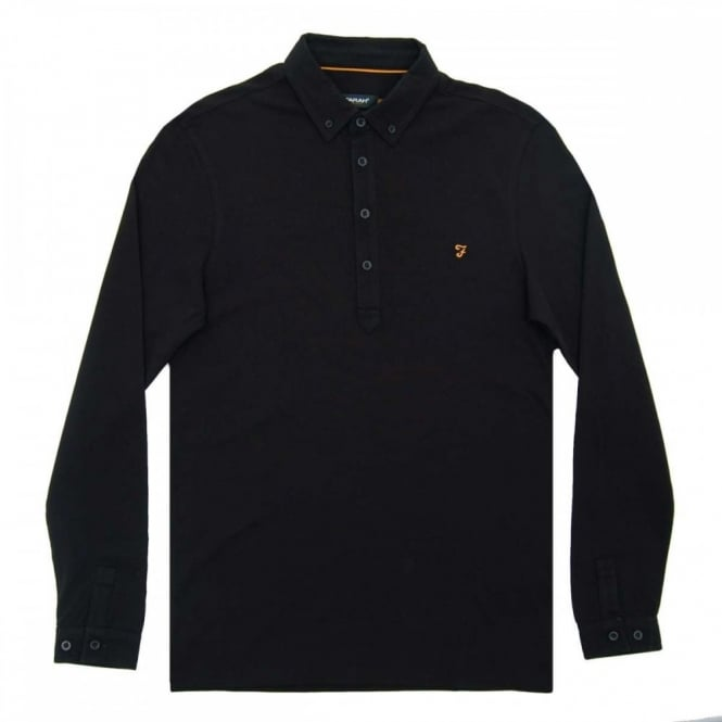 Farah Merriweather LS Polo Black