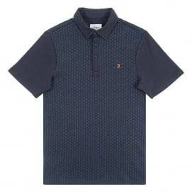 Muirfield Jacquard Polo True Navy Marl