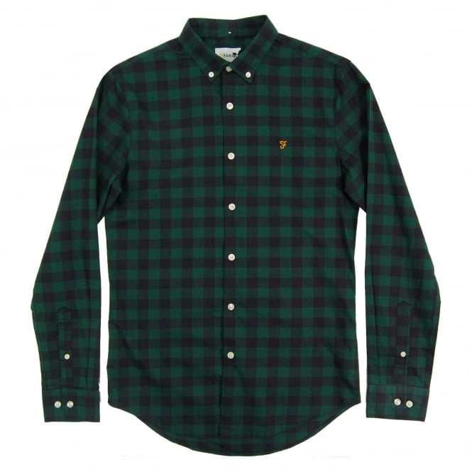 Farah Murial Check Shirt Emerald