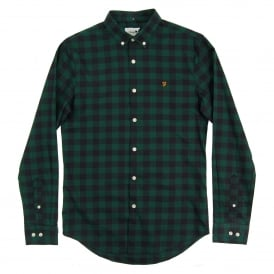 Murial Check Shirt Emerald