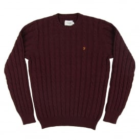 Norfolk Cable Jumper Bordeaux