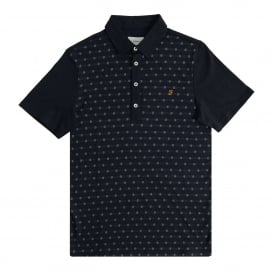 Oakdale Jacquard Polo True Navy
