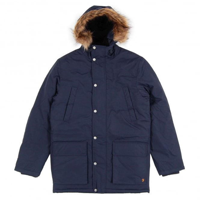 Farah Pembridge Parka Jacket True Navy