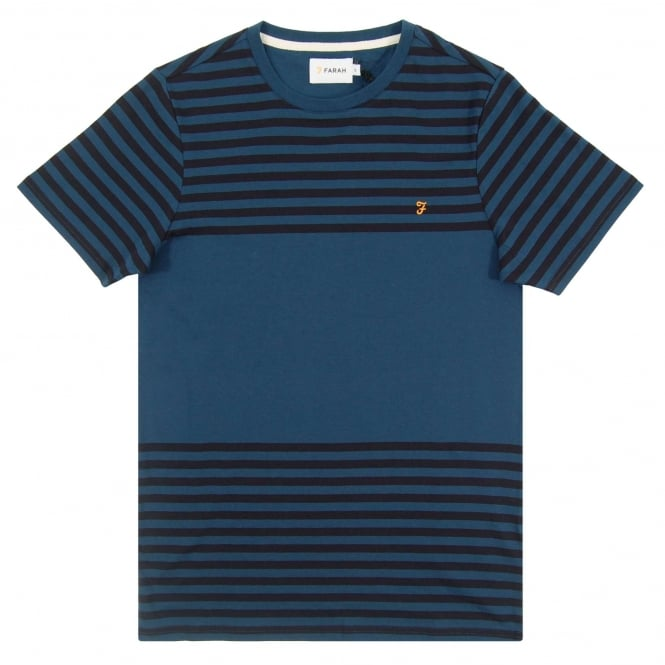 Farah Perin Stripe T-Shirt Atlantic