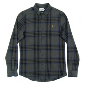 Port Check Shirt Grey Marl
