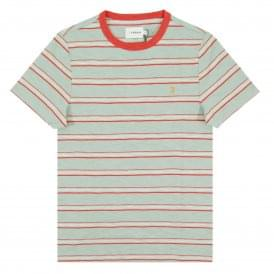 Regis Stripe T-Shirt Green Mist