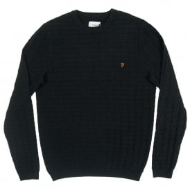 Shirland Textured Jumper Black Marl F4GF7069005