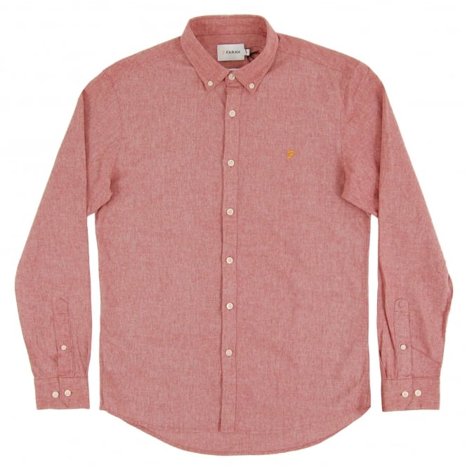 Farah Steen Shirt Light Currant