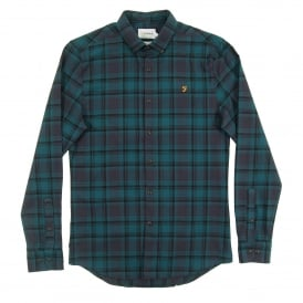 Waithe Check Shirt True Navy