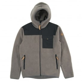 Singi Fleece Hoodie Grey Dark Grey