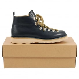 M120 Scarponcino Navy Leather Natural Vibram Sole