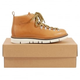 M120 Scarponcino Tan Leather Cut Vibram Sole