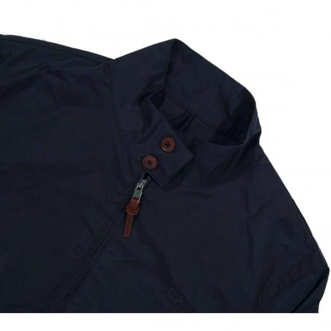 Yhdistynyt kuningaskunta paras arvo uusin Fred Perry J4248 Wax Cotton Harrington Jacket Navy
