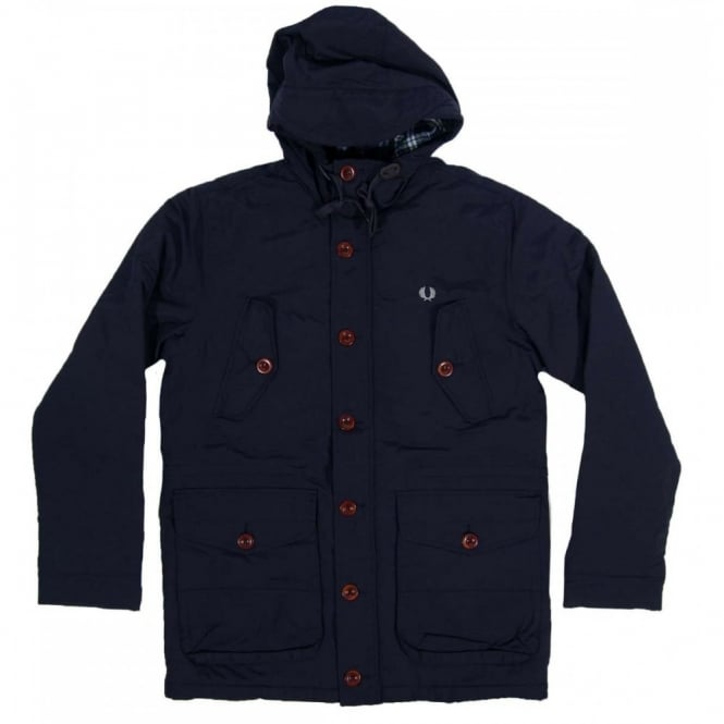 Fred Perry J5243 Mountain Parka Navy Mens Clothing From