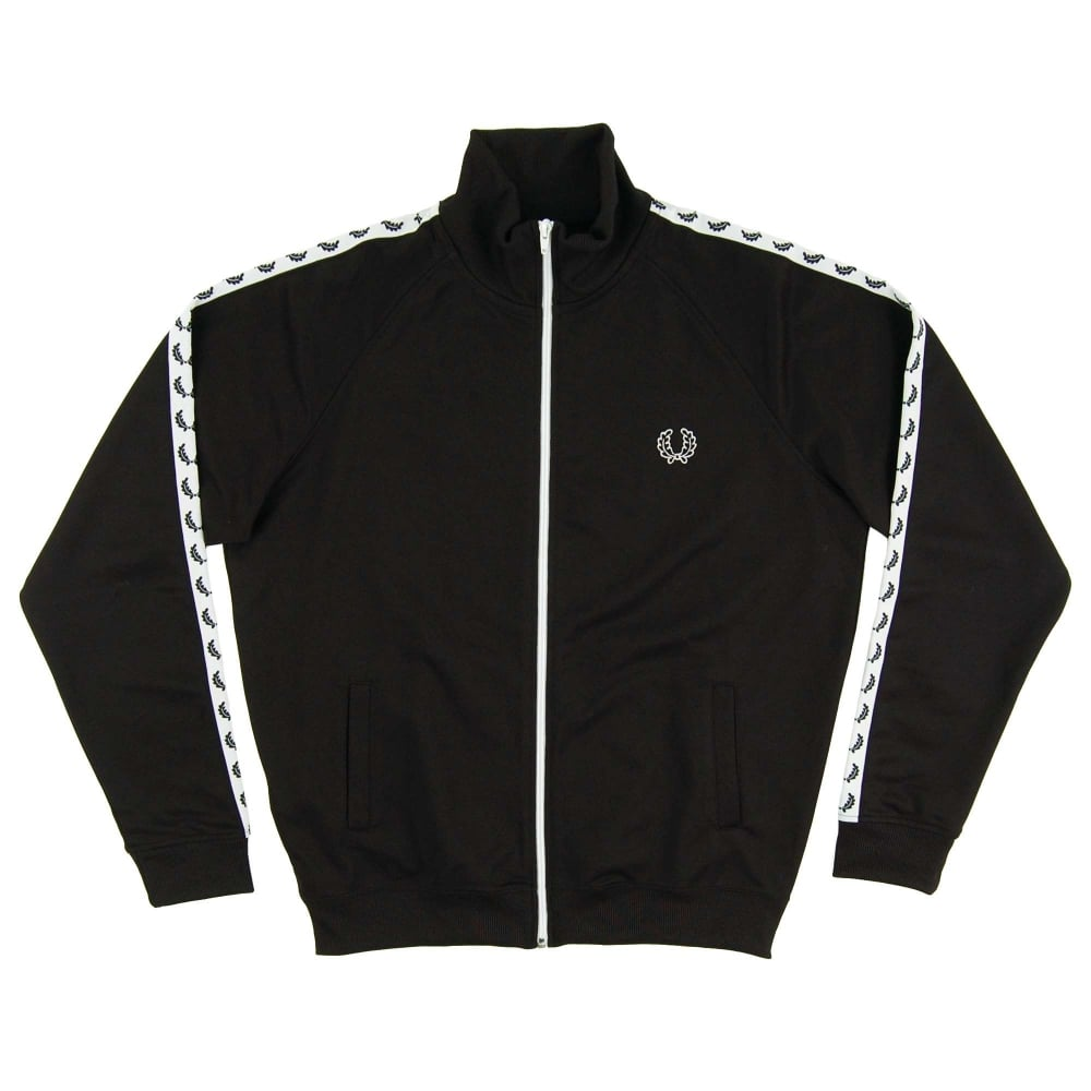 b31be51ce Fred Perry J6231 Laurel Taped Track Jacket Black - Mens Clothing ...