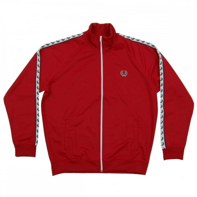 196f053cf Fred Perry J6231 Laurel Taped Track Jacket Blood Red - Mens Clothing ...