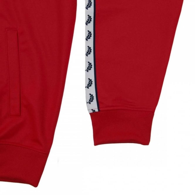 5e05c7590 Fred Perry J6231 Laurel Taped Track Jacket Blood Red