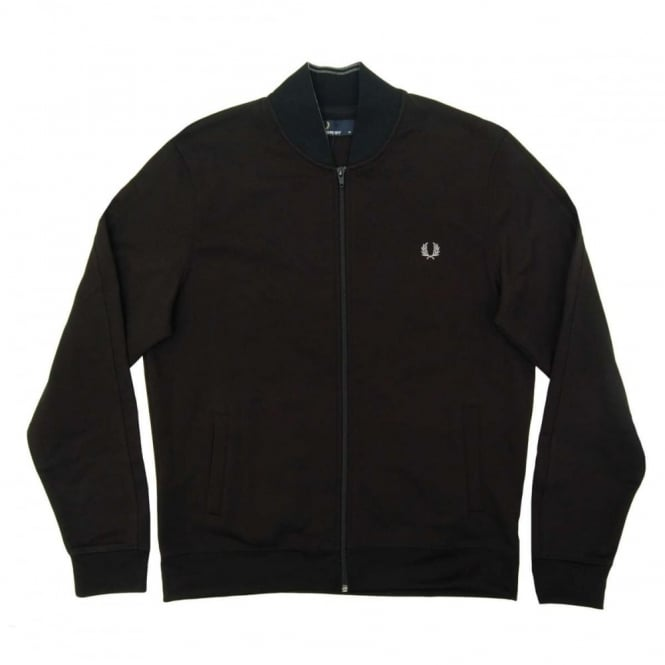 ff86db746 Fred Perry J8215 Bomber Neck Track Jacket Black