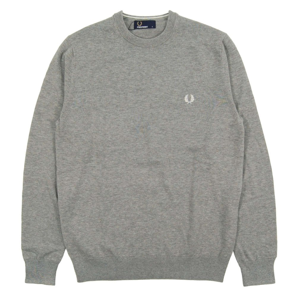 special price for great discount low price sale Fred Perry K5523 Classic Crew Neck Jumper Steel Grey