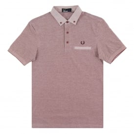 M1575 Woven Trim Polo Rosewood