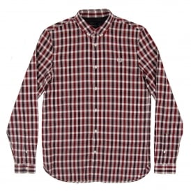 M1584 Three Colour Gingham Shirt Rosewood