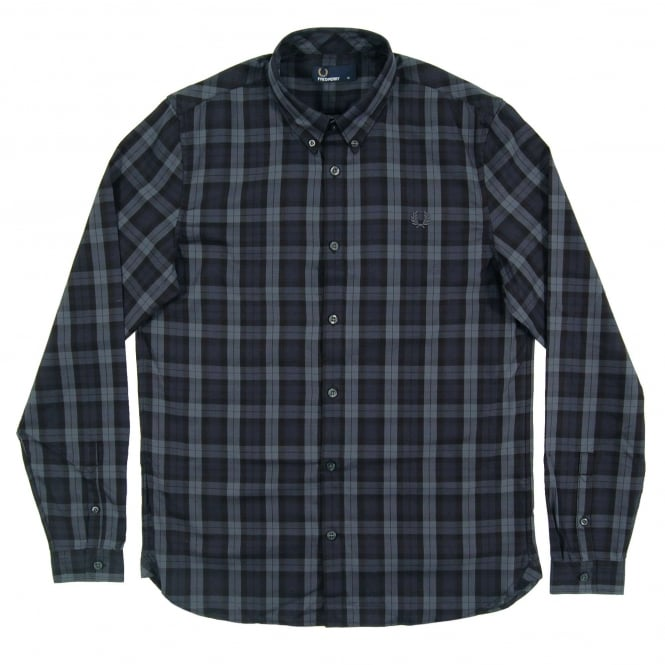 Fred Perry M2548 Winter Tartan Shirt Black