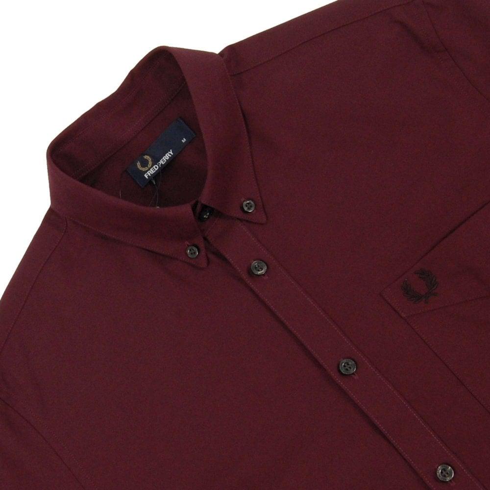 e997de95ba369d Fred Perry M3551 Classic Oxford Shirt Deep Mahogany - Mens Clothing ...