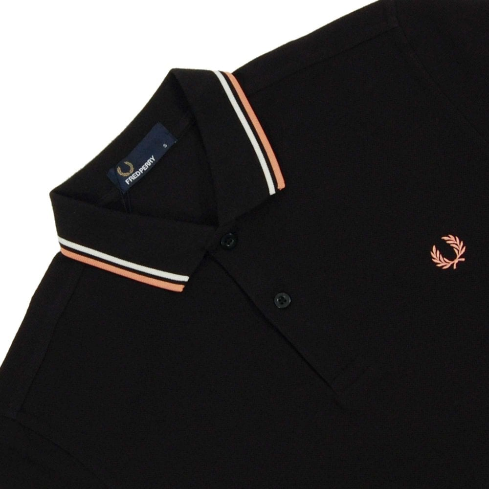 e753b8ee Fred Perry M3600 Twin Tipped Polo Black Ecru Nectar - Mens Clothing ...