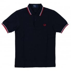 M3600 Twin Tipped Polo Navy White Red