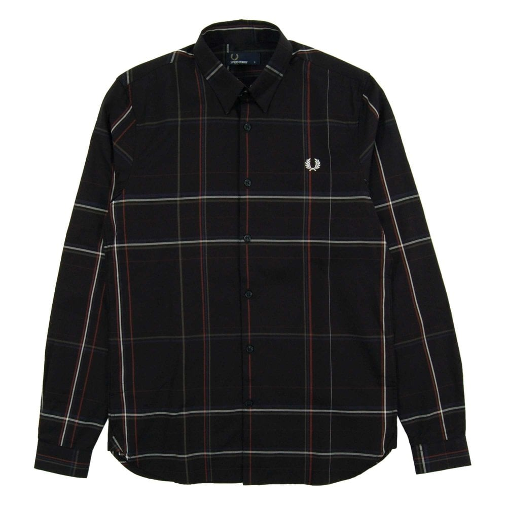 4d635a28 Fred Perry M4536 Enlarged Check Shirt Black - Mens Clothing from ...