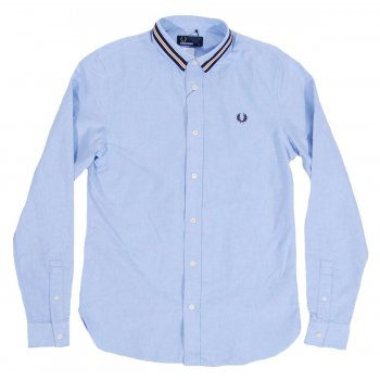 Fred perry m6224 sports tape oxford shirt light smoke for Fred perry mens shirts sale