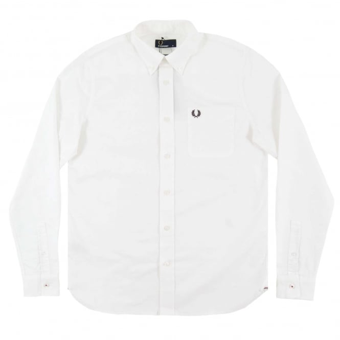 Fred Perry M9546 Classic Oxford Shirt White