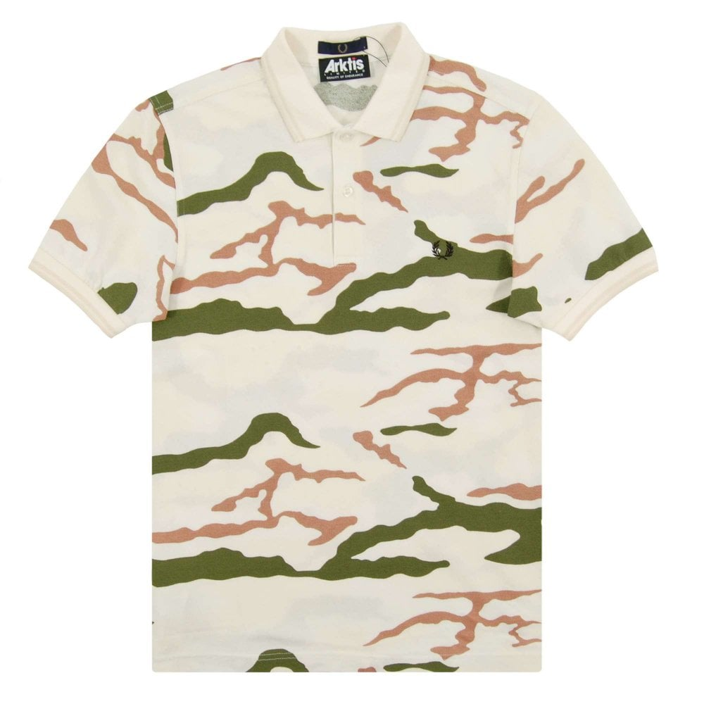 20d1204f Fred Perry X Arktis SM5103 Camouflage Polo Tundra Camo - Mens ...