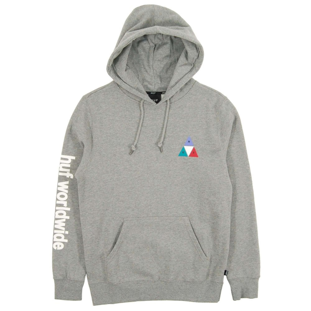 79935ed42248a HUF Prism Triple Triangle Pullover Hoody Grey Heather - Mens ...