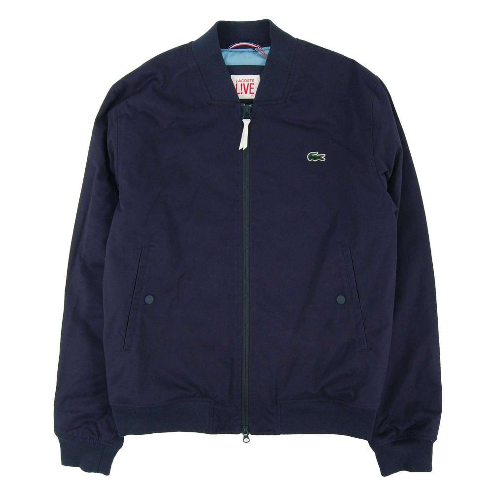 0c2b92a81 Lacoste L!ve BH1273 Harrington Jacket Navy Blue - Mens Clothing from ...