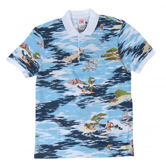 Lacoste L!ve PH0389 Hawaiian Polo Multi White - Mens Clothing from ... cbe93c81d