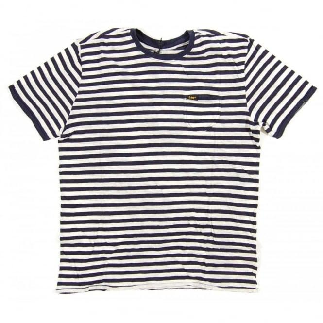5cd9c6834b Lee Grind Pocket T-Shirt Stripe Navy - Mens Clothing from Attic ...