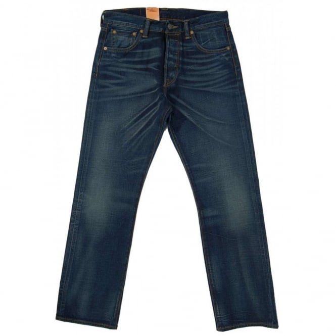 Levi's 501 Selvedge Jeans Tattered Blues