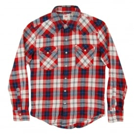 Barstow Western Check Shirt Dorrigo Dress Blues