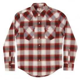 Barstow Western Check Shirt Sun Dried Tomato