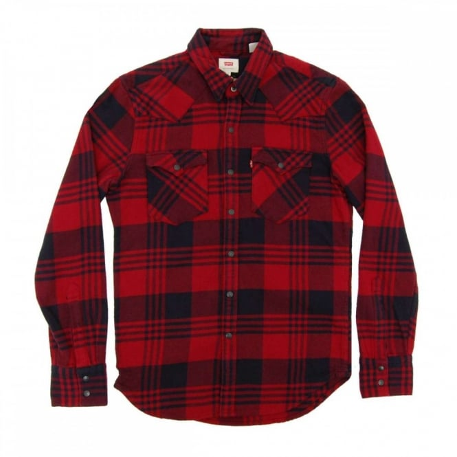 c1aa3abe3d Levi s Barstow Western Shirt Plaid Tibetan Red - Mens Clothing from ...