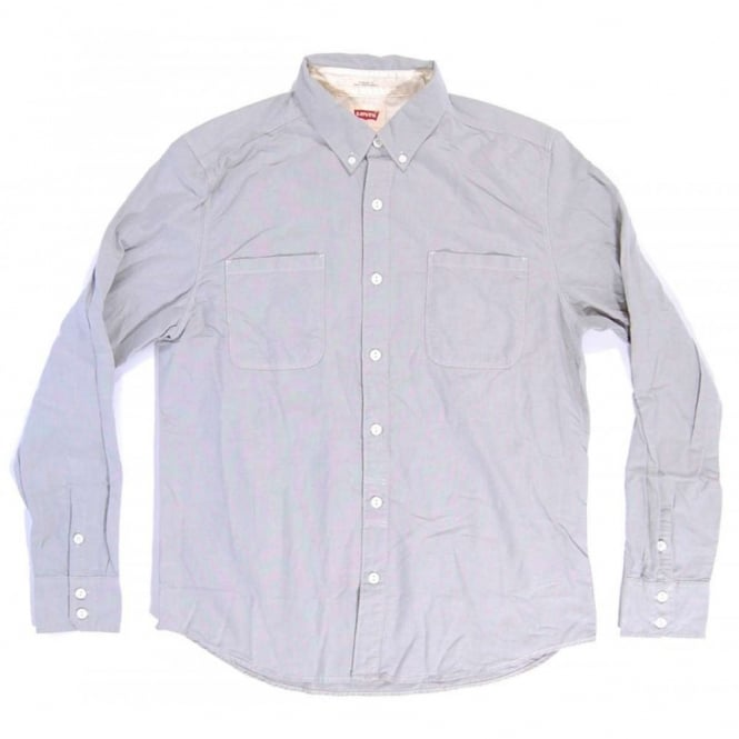 Levi S Button Down Oxford Shirt Smoke Grey Mens Clothing From