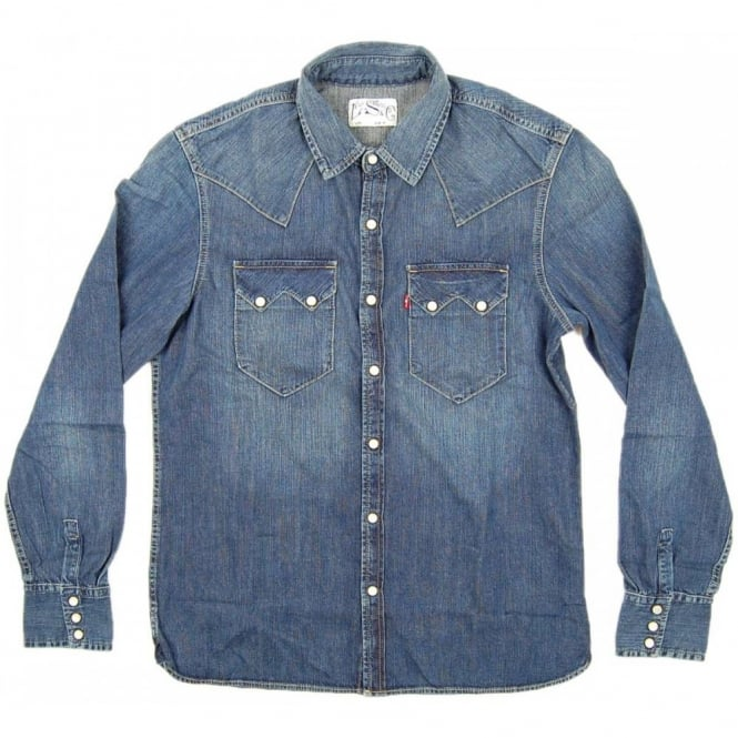 8eba8ec2ee88d Levi s Sawtooth Denim Shirt Mighty Mid - Mens Clothing from Attic ...