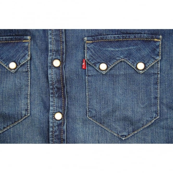 5d3e5a47d73e Levi s Sawtooth Denim Shirt Mighty Mid - Mens Clothing from Attic ...