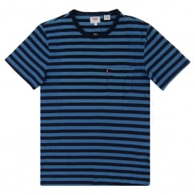 Sunset Pocket Stripe T-Shirt Deep Indigo