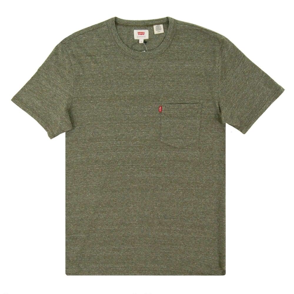 693ed0ad3212 Levi s Sunset Pocket T-Shirt Olive Night - Mens Clothing from Attic ...