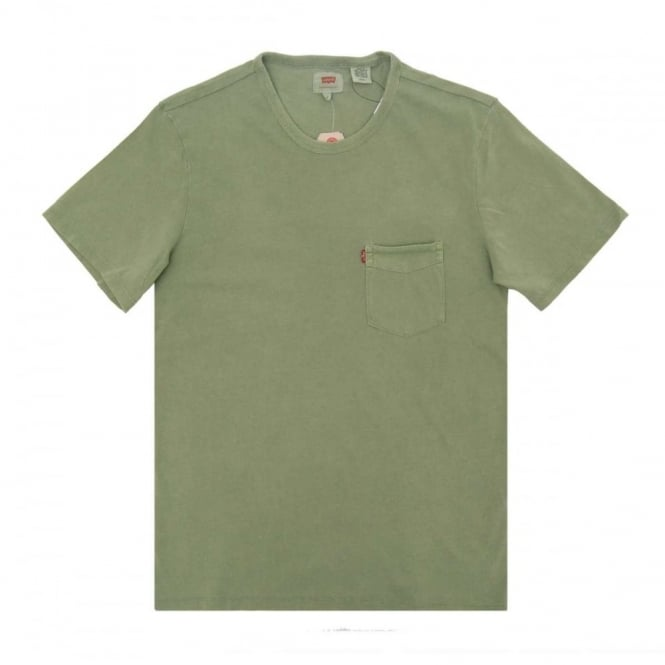 f8c29714 Levi's Sunset Pocket T-Shirt Vineyard Green - Mens Clothing from ...