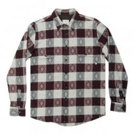 Bertiz Shirt Navajo Check Burgundy