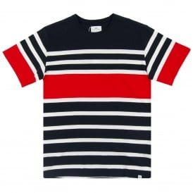 Grori Stripe T-Shirt Navy Red White