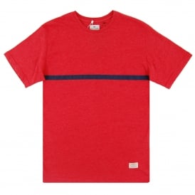 Urkirola Line T-Shirt Heather Red